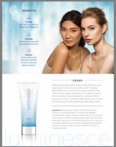 Luminesce Youth Restoring Cleanser Ingredients
