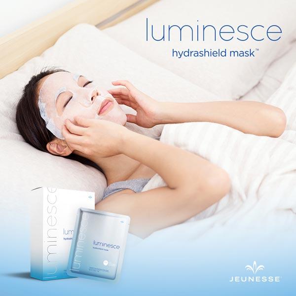 Luminesce Hydrashield Mask, Jeunesse Hydrashield, Anti Aging Skin Mask