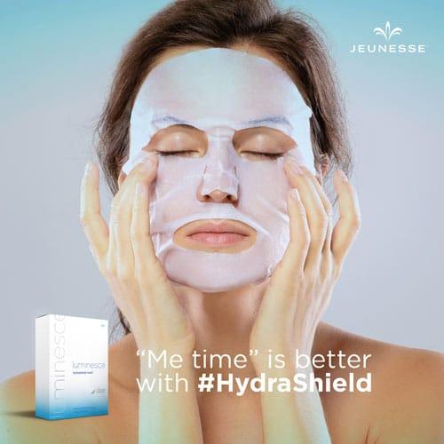 Luminesce Hydrashield Mask, Anti Aging Skin Care Mask, Jeunesse