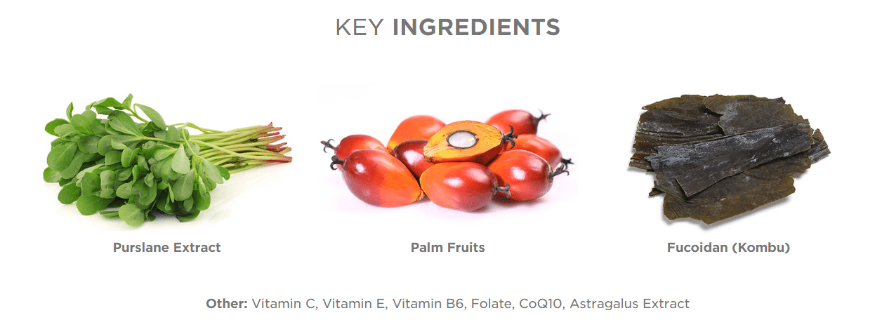 FINITI key ingredients, Jeunesse supplement